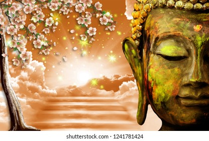 3D Wallpaper, Buddha depicted as way to heaven