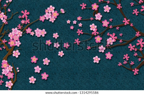 3d wallpaper design blossom flowers 600w 1314295586