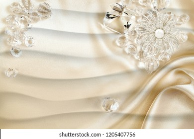 3d wallpaper design with diamonds and silk background