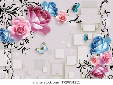 3d Floral Wallpaper High Res Stock Images Shutterstock