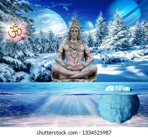 3D Wallpaper, Lord Shiva on Kailash