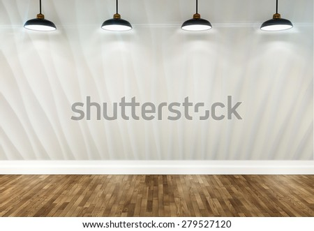 3 D Wallpaper Room Ceiling Lamps Stockillustration 279527120
