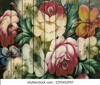 3D Wallpaper, Wall Panels with floral pattern