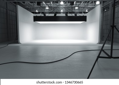 3D warehouse empty photography cyclorama car studio automobile studio 3d rendering