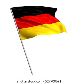 3d Waving colorful Germany flag render isolated