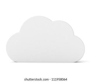 3d white blank board - cloud shape