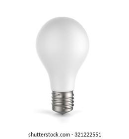 3d white blank light bulb