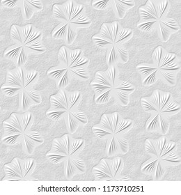 3D white floral seamless texture