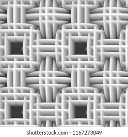 3d white seamless pattern