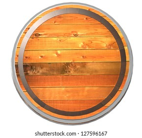 3d Wooden barrel