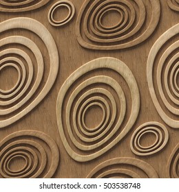 3d wooden pattern, seamless
