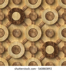 3d, wooden pattern, seamless