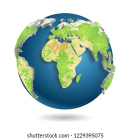 Similar Images Stock Photos Vectors Of Modern 3d World Map