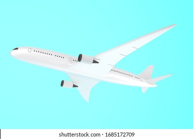3DCG rendering and illustration of an airplane