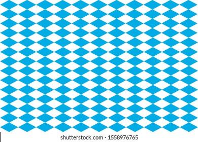 3D-Illustration Diamond pattern Bavaria white background