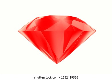 3D-Illustration Diamond Ruby isolated on white background