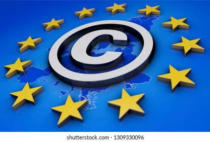 3D-illustration, European copyright law