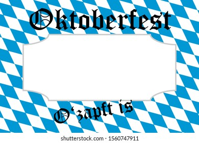 3D-Illustration German Oktoberfest on a white background with copy space