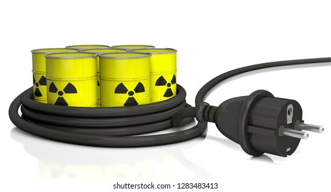 3D-illustration, nuclear electricity