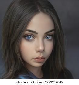 """""""3D-image"""" portrait of a girl makeup."""
