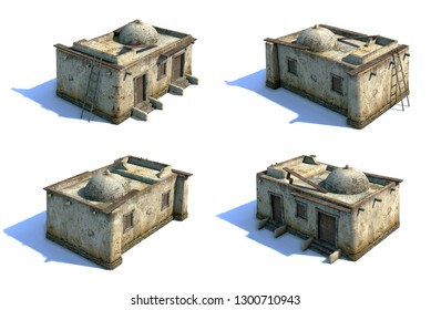 3d-renders of old asian houses