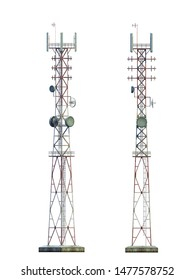 3d-renders of old telecommunication tower