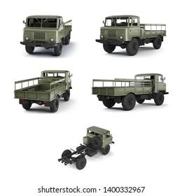 3D-renders of Soviet military truck.