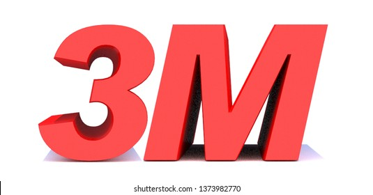 3M or 3 million followers thank you 3d word on white background. 3d illustration for Social Network friends or followers, like