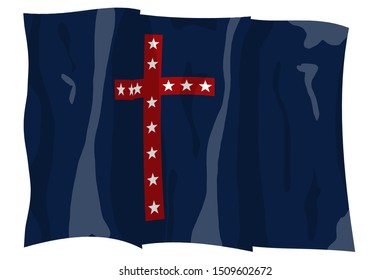 3rd Kentucky Mounted Infantry Historic Flag. US Civil War 1860's. Confederate States of America