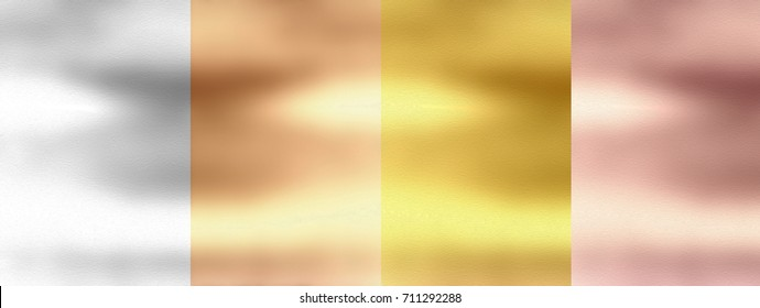 4 in 1 combo background design Rose, Beige, Silver, Gold polished Metal, Steel Metallic Texture Sheet