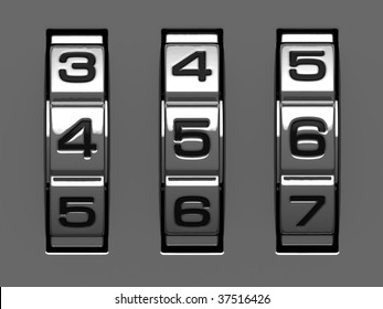 4, 5, 6 figures from combination lock alphabet