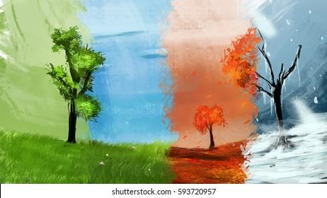 4 season tree in same place