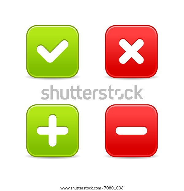 4 Web 20 Buttons Validation Icons Stock Illustration 70801006
