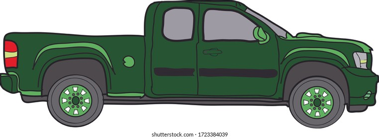 4 wheeler car  illustration .