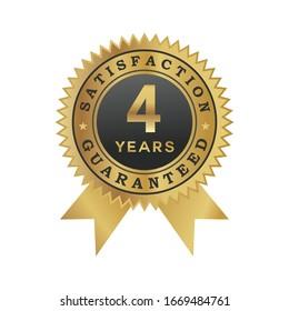 4 years satisfaction guaranteed icon