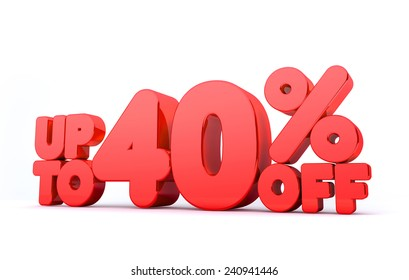Up to 40% Off 3D Render Red Word Isolated in White Background
