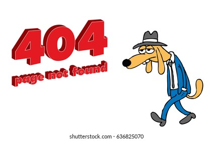 404 Page Not Found Error Stock Illustration - Royalty Free Stock