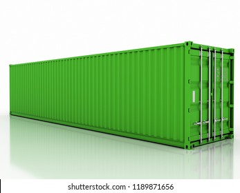 40ft container 3d rendering