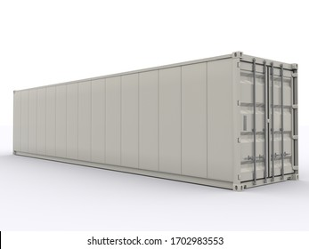 40ft Reefer Container 3d rendering
