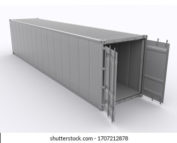 40ft shipping container 3d rendering