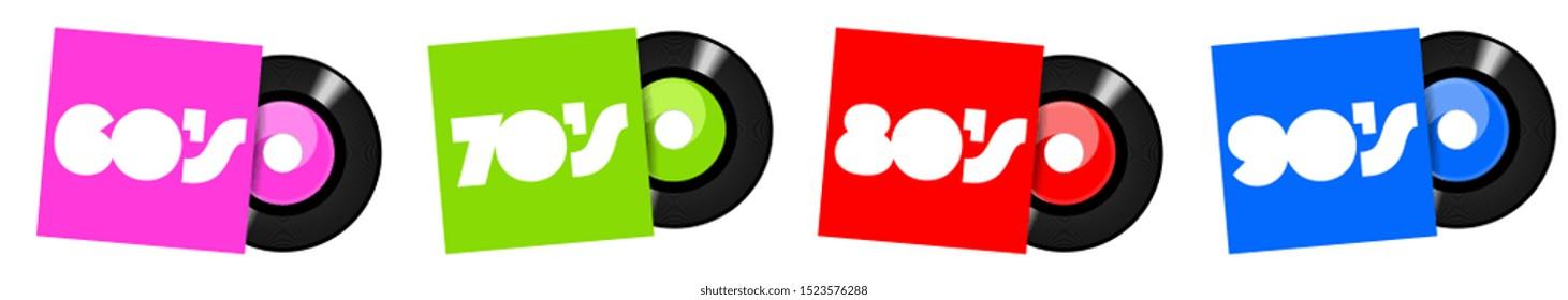 45 rpm vinyl from sixties to nineties