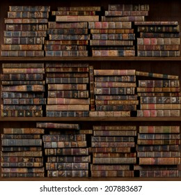 4of15 Old books seamless texture (vertically and horizontally). Tiled Bookshelf Background. Also tiled with other 15 textures from same pack in my gallery.
