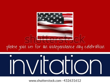 american flag invitation