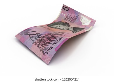 5 Australian Dollar Note  - 3d illustration