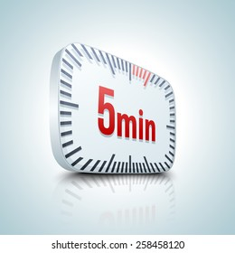 ten minutes stopwatch timer vector illustration stock vector