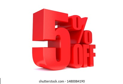 5 Percent off 3d Sign on White Background, Special Offer 5% Discount Tag, Sale Up to 5 Percent Off,big offer, Sale, Special Offer Label, Sticker, Tag, Banner, Advertising, offer Icon