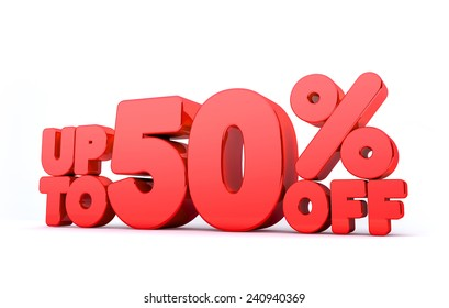 Up to 50% Off 3D Render Red Word Isolated in White Background