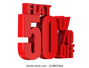 50 Percent off 3d Sign on White Background, Special Offer 50% Discount Tag, Sale Up to 50 Percent Off,big offer, Sale, flat, Special Offer Label, Sticker, Tag, Banner, Advertising, offer Icon