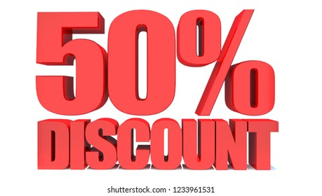 50 Percent off 3d Sign on White Background, Special Offer 50% Discount Tag, Sale Up to 50 Percent Off,big offer, Sale, Special Offer Label, Sticker, Tag, Banner, Advertising, offer Icon