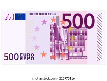 500 euro banknote illustration.